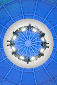 Basketball Hall of Fame lighting up